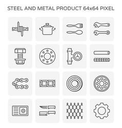 steel metal icon vector image