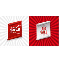 Super sale banner ribbon red vector