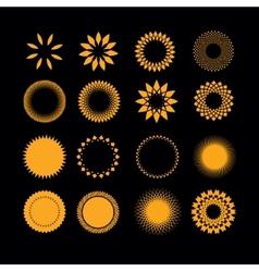 Symbols sun in set vector