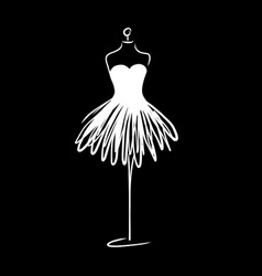 Tailor dummy fashion icon on white background vector