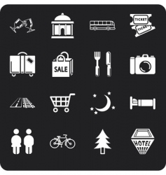 Tourism and city icons vector