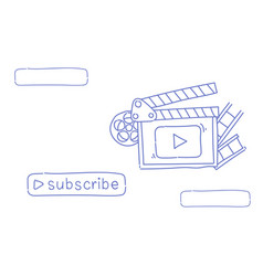 Video blog camera online stream blogging subscribe vector