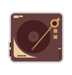 vinyl record player icon vector image