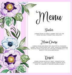 Watercolor floral wedding invitation vector