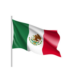 waving flag of mexico vector image
