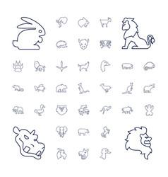 Wild icons vector
