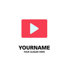 Youtube paly video player business logo template vector
