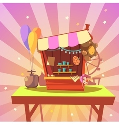 Amusement park cartoon vector image
