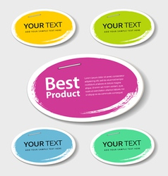 Colorful label paper best product circle vector image vector image