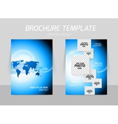 Flyer back and front template design vector image