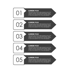 infographic templates for business on white vector image