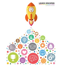Launch Education vector image