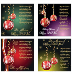 merry-christmas-background set vector image