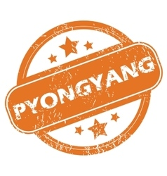 Pyongyang round stamp vector image