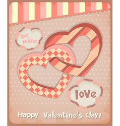 Retro Postcard to the Valentines Day vector image vector image