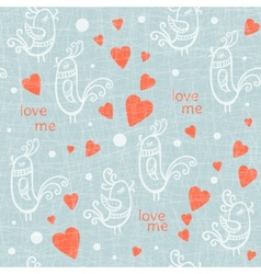 Valentine Day seamless with birds vector image vector image
