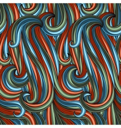 abstract curves pattern vector image vector image