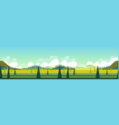 banner with green landscape vector image vector image