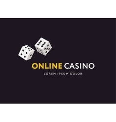 Game club or online casino logo template vector image vector image