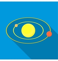 Solar system icon flat style vector image vector image