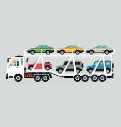 truck transport vector image vector image