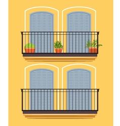 Yellow building vector image vector image