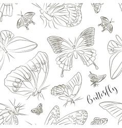 Butterflies set pattern vector image vector image