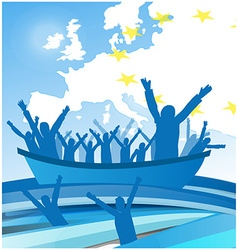 immigration people on the boat vector image