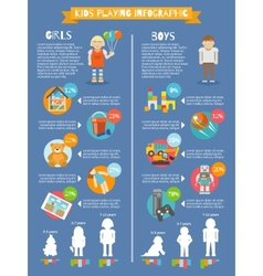 Kids Playing Infographics vector image vector image