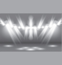 light from spotlight on transparent background vector image