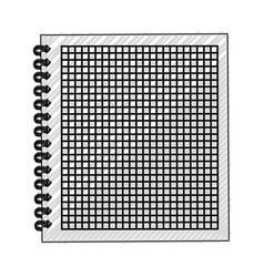 scribble notebook cartoon vector image vector image