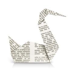 swan origami toy vector image vector image
