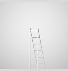 White ladder against wall vector