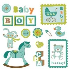 Baby boy toys vector image