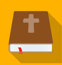 book with a cross on the cover the bible easter vector image vector image