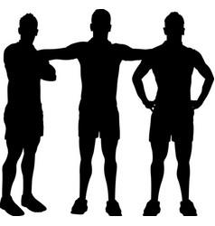Men group posing vector