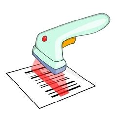 Scanner icon isometric style vector image