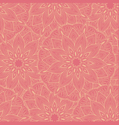 seamless pink mandala pattern for printing on vector image vector image