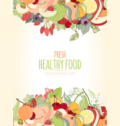 the fruits and the text vector image vector image