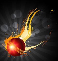 Abstract cricket background vector