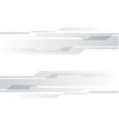 Abstract grey cyber technology on white vector