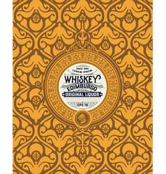 art-deco whiskey label vector image