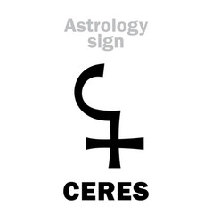 Astrology asteroid ceres vector