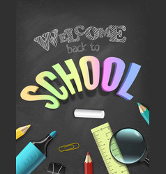 back to school colorful concept with vector image
