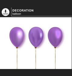 balloon set of decorative festive balloon vector image
