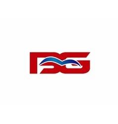 BG letter logo vector