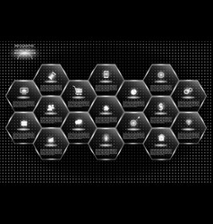 big infographics on a black background vector image