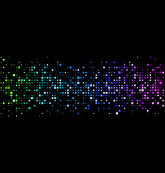black background with colorful geometric pattern vector image