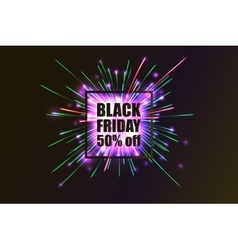 Black Friday Fireworks discounts vector image