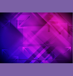 blue purple technology background with arrows vector image